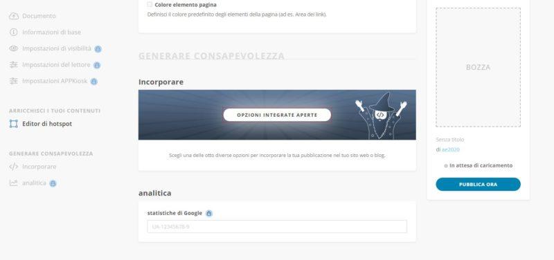 Crea consapevolezza aggiungendo Google Analytics per il tuo flipbook book