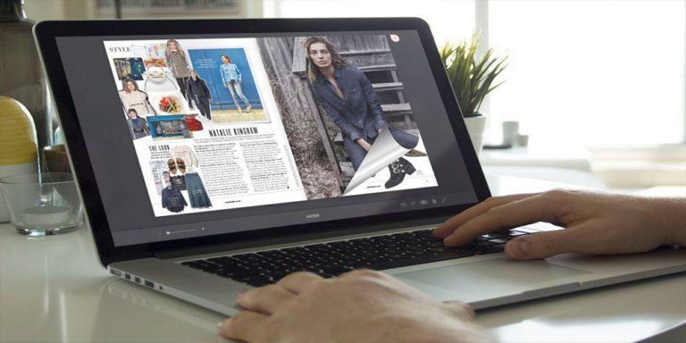 Flip HTML5 sul laptop