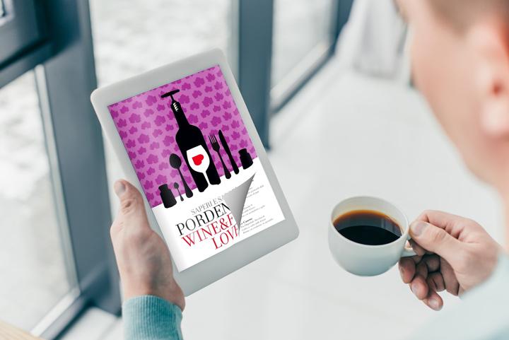 Flipbook book sul tablet con un effetto di capovolgimento di pagina